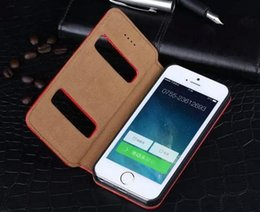 For Iphone 4 4S Case Simple Window Flip Cover Stand Luxury Original Colorful Noble Genuine Leather Case for Apple Iphone 4 4S