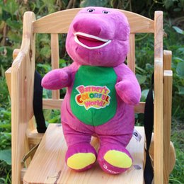 Wholesale 2016 NEW Singing Barney and Friends Barney quot I LOVE YOU Song PLUSH DOLL TOY RARE Christmas gift