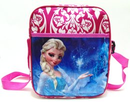 Wholesale 2016 frozen Elsa Anna bag baby girl cartoon school bag children travel backpack shoulder bag