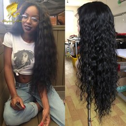 150% density Hotsale Malaysian Curly Lace front Wig With Baby Hair Glueless full lace loose Curly Human Hair Wigs For Black Women