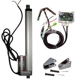 Kit completo: solo eje sistema de seguimiento solar, DC 12V 250mm / 10 pulg actuador lineal electrónico Controller- Sunlight Rastreador desde controlador lineal proveedores