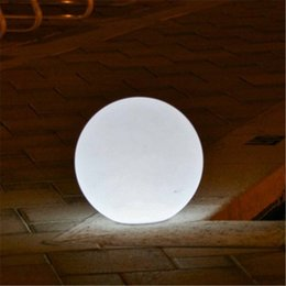 Outdoor waterproof colorful changeable rechargeable remote controller 60CM round LED globe ball light global lamp for decoration