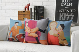 Wholesale Interesting Adolf Painting Clown Comedy ironic humorous POP ART Pillow Massager Decorative Pillows Cover Neck Throw Popular Gift