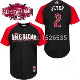 Wholesale 30 Teams New American League All Star Derek Jeter Mark Teixeira Dellin Betances Mens Authentic Baseball Jersey Cool Base