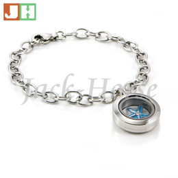 316L stainless steel Waterproof 20mm twist Locket Bracelets Charmed Lockets Rolo Link Starter Locket Charm Bracelet