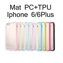 Transparent Mat Gel de couverture PC + TPU dur transparent Bumper Case pour iPhone 5 5S 6 6S plus Samsung S5 S6 bord Note 4 5 à partir de pare-chocs 5s transparent fournisseurs