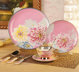 Wholesale Dinnerware Set Bone China Tableware Dishes And Plates Ceramic Spoon Porcelain Dinner Sets