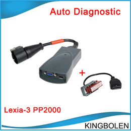 Wholesale 2015 Hot Citroen Peugeot Diagnostic Tool Lexia PP2000 Newest V48 software with Pin Cable lexia3 Lexia DHL