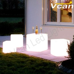 Free Shipping 40cm 16inch night club rgb waterproof indoor and outdoor party LED cube chair bar table