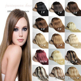 "wholesale-7A 14""- 26"",8pcs Unprocessed brazilian remy Hair straight clip-in hair remy human hair extensions, 12 colors for choose ,120g set,"