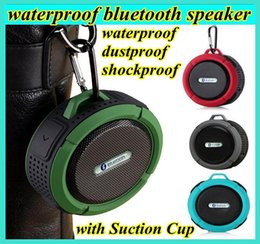 Wholesale c6 IPX7 wireless Bluetooth Speaker waterproof Suction Cup speakers Handsfree MIC Voice Box portable bluetooth for iphone samsung