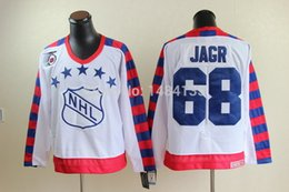 Wholesale Factory Outlet Hi Q Men s All Star CCM Throwback Hockey Jerseys Jaromir Jagr White Authentic th Anniversary Patch Stitched Jerse