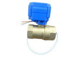 Wholesale misol motorized ball valve brass G1 quot DN15 BSP reduce port way CR02 electrical valve
