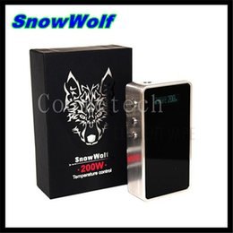 Wholesale 100 Original Sigelei Snowwolf w Box Mod with Temperature Control snow wolf w VV VW box mod VS Fountain V2 Rda SNOW WOLF atomizer