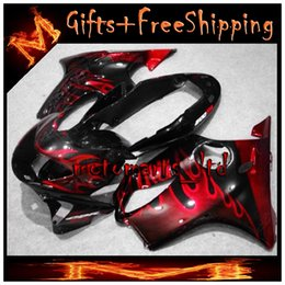 Wholesale black red flames CBR600F4 ABS Fairings Body Kit Fairing For honda CBR600 CBR F4 Aftermarket Motorcycle