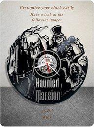 Huanted Mansion CD Vinyl Record Creative Wall Clock Digital Hanging Clocks Mooie Herten Vintage CD Art Clocks