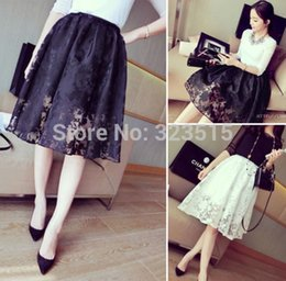 FG1511 2015 Black New NEW Women Double Layer Lace Polyester Pleated Retro Elastic Waist Skirt Free Shipping Drop Shipping