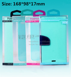 Universal Retail Plastic Packaging Package Box For Cell Phone Leather Wallet Case For iPhone 6 Plus 5 4S Samsung S5 S4 Note 3 4 No Blister