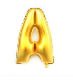 Wholesale P1005G AL New inch cm Gold Letter Foil Letter Balloons Letter A Party Birthday Wedding Decoration