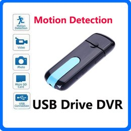 Mini DV Camera HD U8 USB Flash Drive Camera DVR 3 in 1 Camera SPY Hidden USB Disk Camcorder With Motion Detection