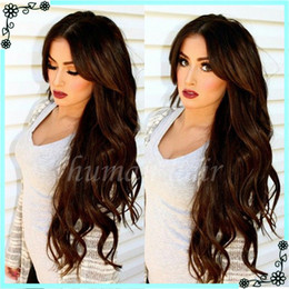 Long Full Lace Human Hair Wigs Brazilian Natural Wave Full Lace Wig Glueless Virgin Hair Lace Front Wig For Black Women