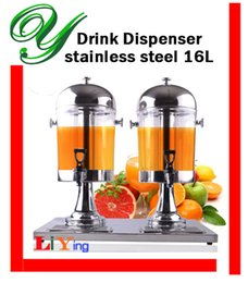 Wholesale drink dispensers with stand stainless steel spigot ice chamber plastic double juice container beverage jar silver gold L jug buffet server