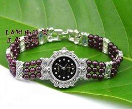 Vintage thai argent femmes gros-S925 argent pur grenat de luxe bracelet de montre à partir de montre grenat fabricateur