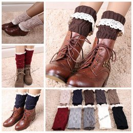 New Boot Cuff Fashion New Hot sale Crochet Boot Cuff women Lace Crochet Boot Cuff Lady warm lace knitted leg warmers LJJD3445 100pairs