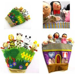 Cloth Plush wooden Animal Forest Glove Finger Puppets & family puppets Animal glove Hand Puppets Kids Toys Zebra