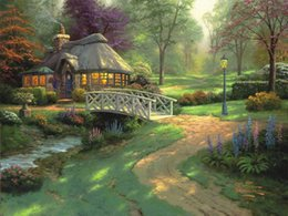Wholesale Prints For Sale Thomas Kinkade The Jungle Book Cheap Modern Decor Texture Acrylic Painting Home Decoration Panel Cheap Art