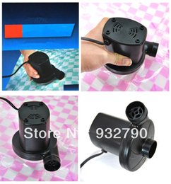 Wholesale 220v Hz Hz ELECTRIC AIR PUMP pa pa IATE DEFLATE ADAPTOR VALVES FOR IATABLE BED POOL BOAT BALL IATABLES order lt no t