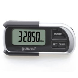 Wholesale yuwell YJ102 running pedometers calories burned walking fat burning calculator old man CE pedometers step counter podometro running