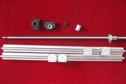 Wholesale 2 x SBR20 mm linear rail guides sets ballscrew RM1605 mm end machined BK BF12 couplers