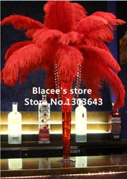 """Free shipping,Wholesale prices,12-14"""" inches,100pcs lot,red ostrich feathers for Wedding Birthday Christmas Decorations"""