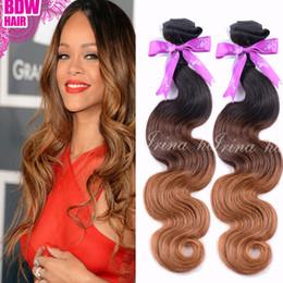 7A Virgin Brazilian Virgin Hair Ombre Body Wave Three Tone Color 1B 4 30 Cheap Peruvian Virgin Hair Weaving Unprocessed Human Hair Bundles