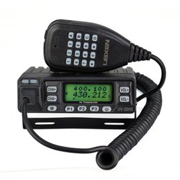 Wholesale LEIXEN walkie talkie W fm VHF UHF dual band car radio two way radio LEIXEN VV ham antenna Free cable with software CD