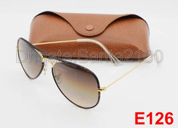 1pcs Designer Classic Pilot Sunglasses Sun Glasses Eyewear For Mens Womes Full Color Tortoise Leopard 58mm Gradient Brown Glass Lenses Cases