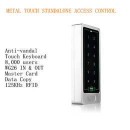 Wholesale 8 Users Metal Case Touch Keyboard Single Door KHz RFID Access Controller Standalone