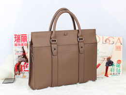 Wholesale High quality genuine leather handbag briefcase B bag computer bag gray men s bag