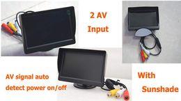 Wholesale Camera Enclosure Mtv Box Dome Housing New quot Car Stand Alone Lcd Display Screen Monitoring with Sunshade Dc12v Av camera Input