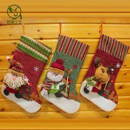 Wholesale 2015 best selling high end European bulk brother ski socks creative gifts Christmas stocking Christmas stocking candy JIA307