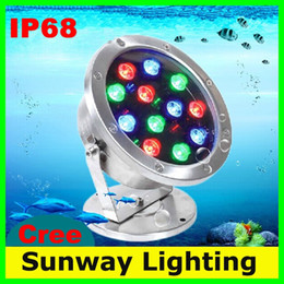 Wholesale Outdoor IP Lighting LED Under Water Floodlights RGB LED Swimming Pool light V V Fountain Lights W W W W Lamps