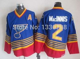 Wholesale Factory Outlet Cheap Ice Hockey AL MacINNIS Jersey St Louis Blues Vintage Throwback Blue Away Men s Sport Jerseys Stitched