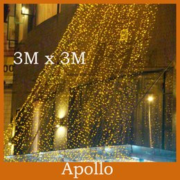Outdoor 3M * 3M 300 Led Curtain Light Strings Waterproof Xmas Wedding Party Festival Background Decoration Flash Fairy String Light Lamp