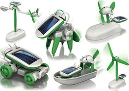 Wholesale Diy creative environmental science series in Educational DIY Solar assembly robot toys Six robot