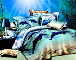 Wholesale Aquarium Beach D printing D Bedding set bedclothes bed sheet duvet cover bed linen bedding set king size
