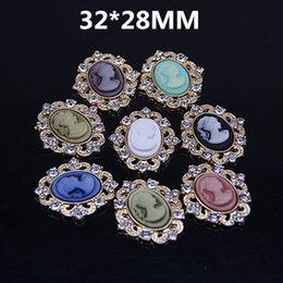 Wholesale Xayakids gemstone beads Beauty head decorated with handmade DIY alloy disk hair diamond buckle accessories mobile phone beauty jewelry sets