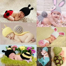 Wholesale Soft Baby Beanie Sets Photography Props Children s Crochet Cotton Infant Costume Outfits More Styles Optional DEG