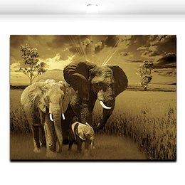 African wild giant elephant Animal Large Canvas Paintings House or office Decoration Modern Canvas Paintings Wall Art Panel