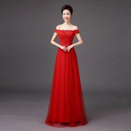 Shanghai Story Bride Luxury Satin Dress Festival Forma Off The Shoulderl Evening Dresses Lace Evening Dress